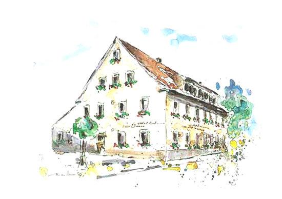 Hotel Zur Sonne: Aquarell