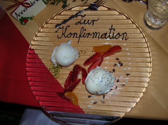 Hotel Zur Sonne: Dessert