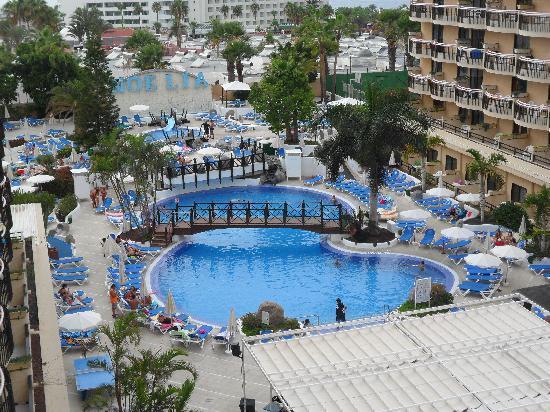 Dream Hotel Noelia Sur : Vista de la piscina desde nuestra terraza