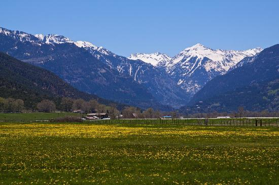 Ouray, CO: Uncompaghre Valley in spring (photo:  K. Scheidegger)