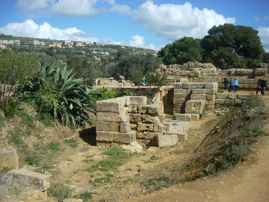 Tempio di Giove Olimpico: Some of the interior foundation stones in the Temple of Olympian Zeus.