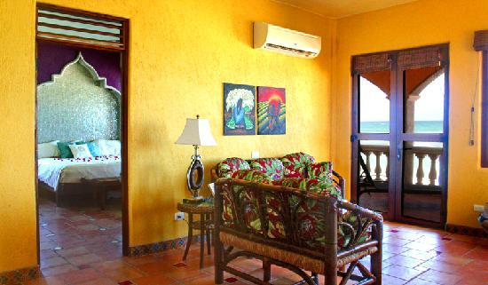 The Taj Majahual: The Sultan Suite includes a Spacious Living Area with Panoramic Views of the Costa Maya