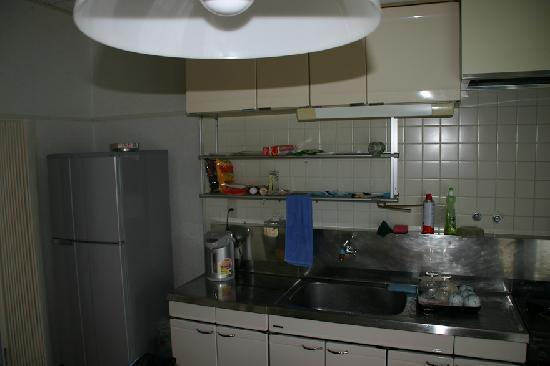 Ocean House in Sashiba: ロッジの台所、もちろん自炊可