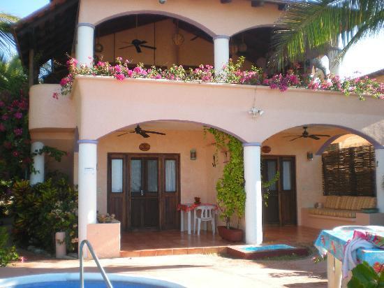 Casa de La Sirena: La casa vista desde la playa