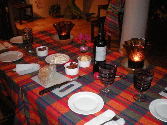 Casa de La Sirena: Cena en la cocina-terraza
