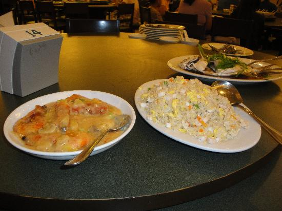 Ahfat Seafood Plaza: Shrimps &Ah Fat's fried rice