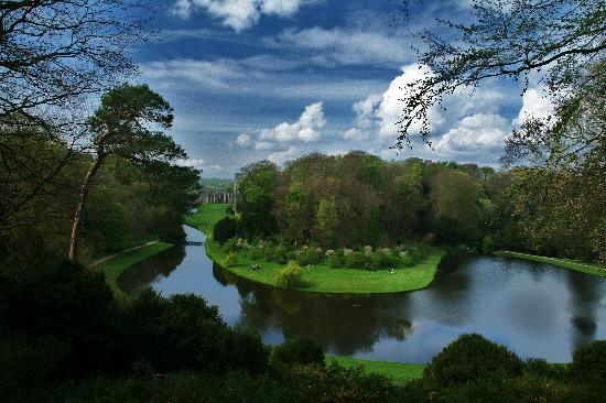 Fountains Abbey and Studley Royal Water Garden: View from Anne Boleyns seat