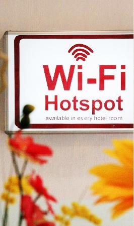 Streetview Hotel: Free Wifi is available in every room