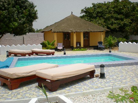 Brufut, Gambia: My room and the brand new pool