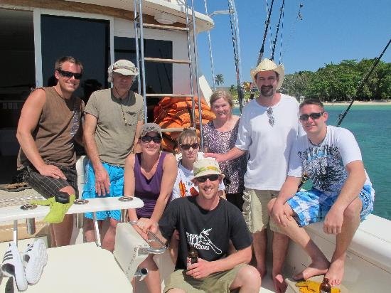 Stanley's Deep Sea Fishing: Our crew and the end of a great day. We will be back.