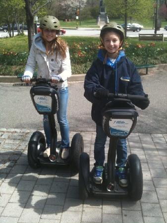 I Glide Tours & Rentals: Our 15 and 13 year old having fun!