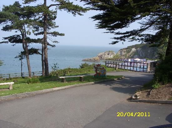Combe Martin Beach Holiday Park: Pool with a view