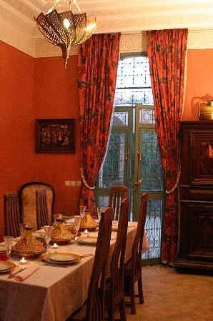 Les Jardins d'Ourika : salle a manger
