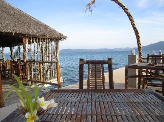 Chindonan Dive Resort: view from the breakfast/dinner table