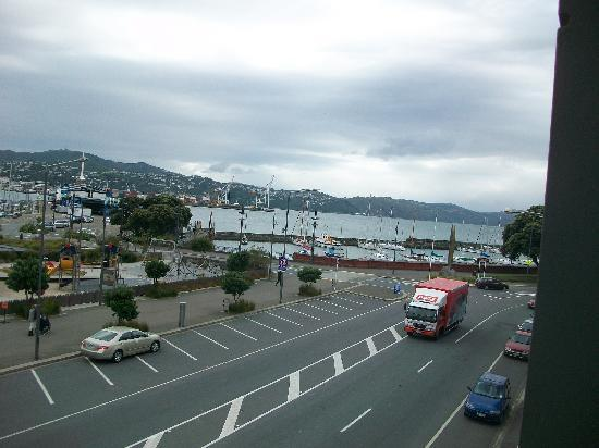 Ohtel: View from the balcony onto Oriental Parade and the waterfront