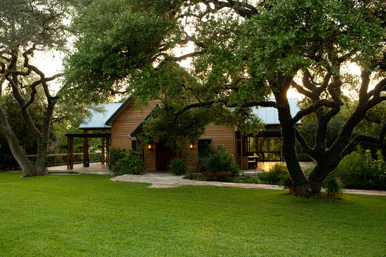 The Red Corral Ranch: The Exterior of Celebration Hall - There is ample room on the lawn to spread out with tables and