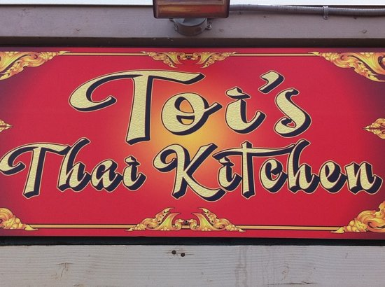 Toi's Thai Kitchen: sign