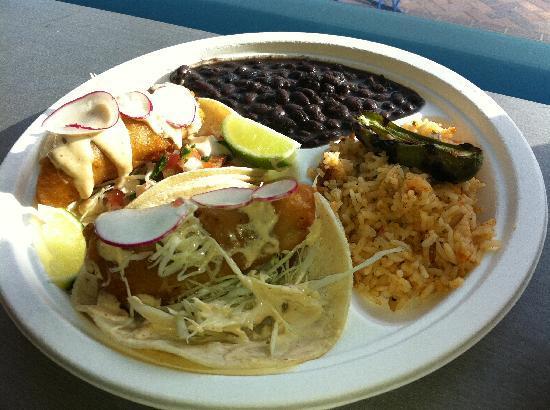 Dorado Tacos & Cemitas: Dorado fish Taco Dinner Plate