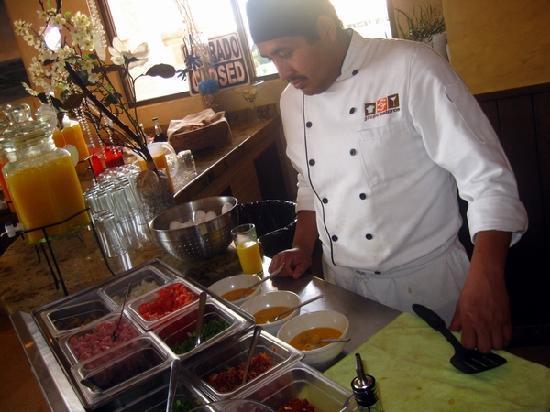 Restaurante de Ramon at Sonoran Sea: Ingredientes de los huevos al gusto