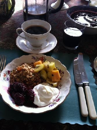 Booklovers Bed and Breakfast: Delicious breakfast!