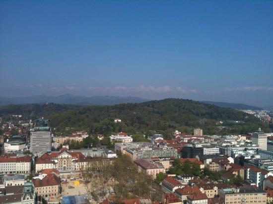 Slamic B&B: view from Ljubljana Castle