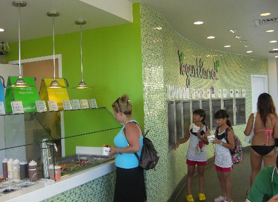 Yogurtland Waikiki Beach : 店内
