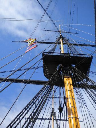 Hartlepool, UK: Blue skies and rigging