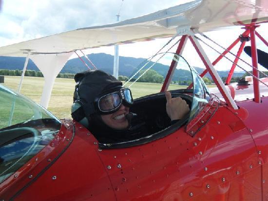 Abel Tasman Pilot a Stunt Plane: like snoopy as the red baron