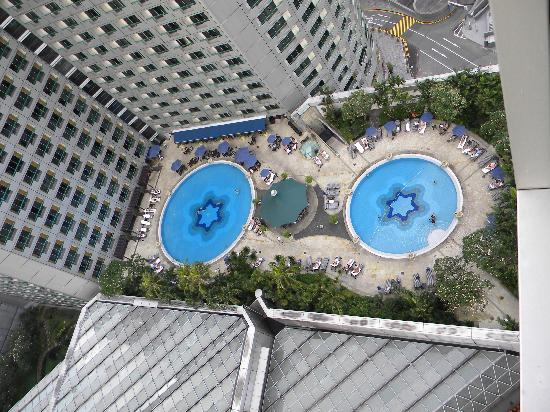 View Of The Swimming Pool From My Room Picture Of Swissotel The Stamford Singapore Singapore