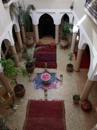 Riad Basim : Sicht auf den Innenhof