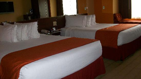 Microtel Inn & Suites by Wyndham Verona: Beds in our room