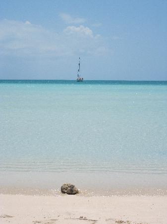 View from Sapodilla Bay beach