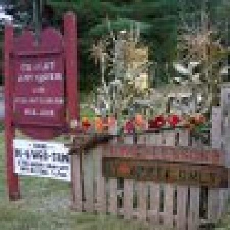 The Chalet Antiques Barn & Museum : the entrance signs