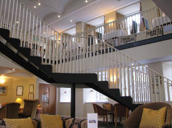 New Lanark Mill Hotel: Lounge and staircase