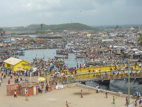Elmina lagoon: view from Elmina Castle