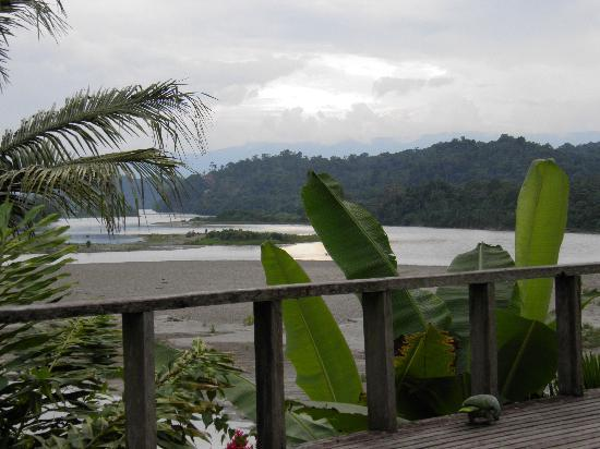 view of river from Yachana Lodge