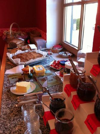 Landhotel Guglhupf: just a part of the large breakfast available in the morning