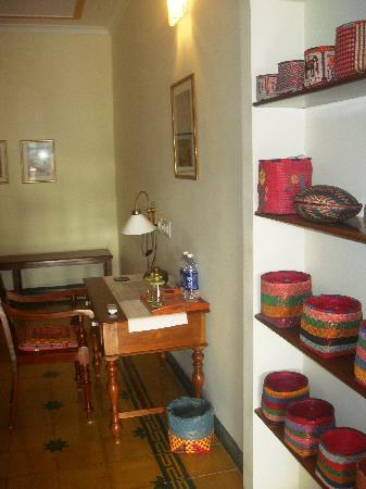 The Bangala: Traditional crafts displayed in the room