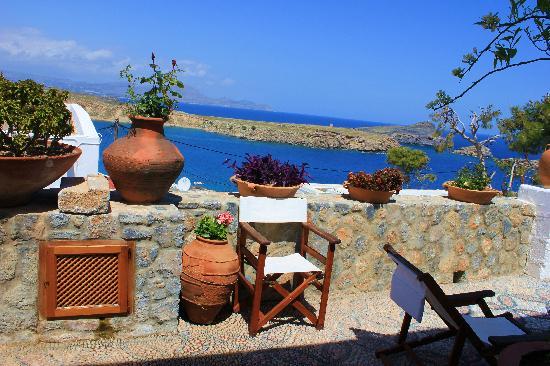 Melenos Lindos Hotel: Private terrace