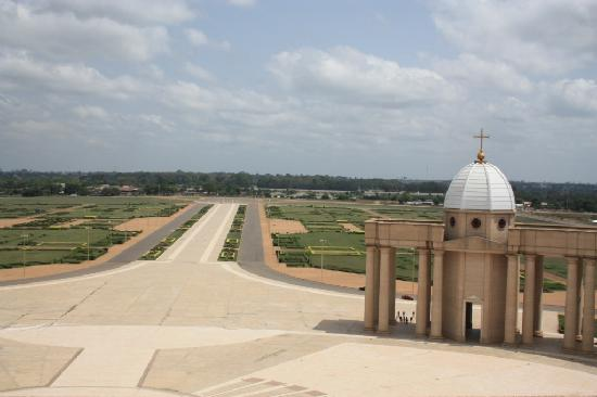 Basilica of Our Lady of Peace: A view from the top of the Basilica.