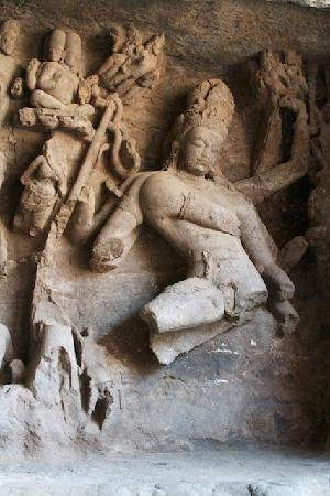 Elephanta Island, India: Lord Shiva dancing