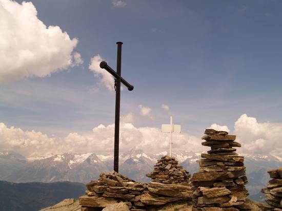 Graechen, Switzerland: one of the peaks above Grachen