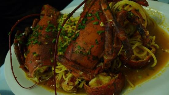 A Pié de Ma: spaghetti lobster