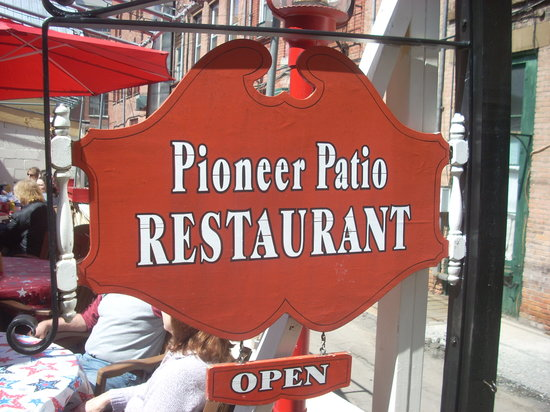The Pioneer Patio Restaurant : The Pioneer Patio Sign