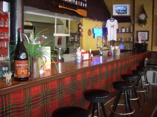 The Pioneer Patio Restaurant : The counter/bar offers a dozen or so kinds of beer including local brews.