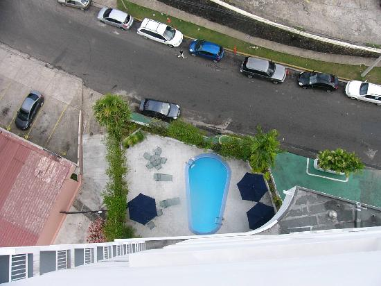 The Executive Hotel: The pool's a long way down