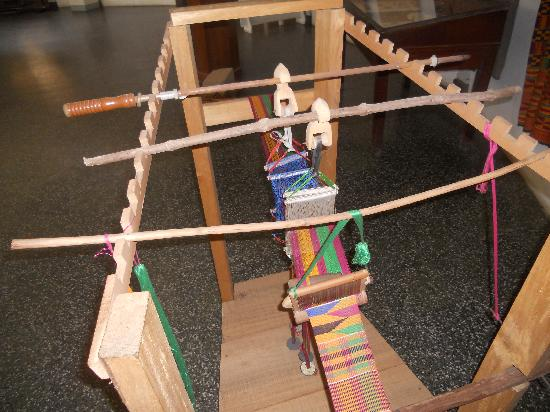 Accra, Ghana : National Museum: loom for making Kente cloth