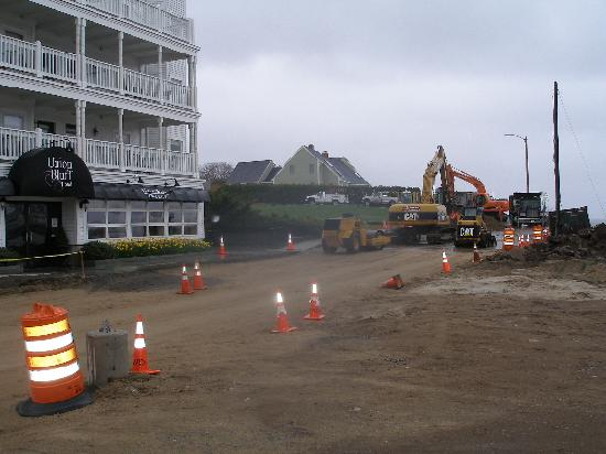 Union Bluff Hotel : construction in front of Union Bluff