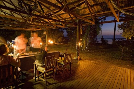 Garig Gunak Barlu National Park, Australia: Dining Area at Sunset