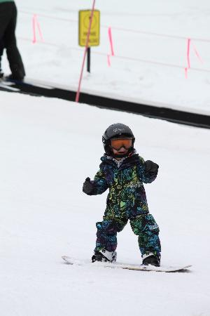 BEST WESTERN Meander Inn: Our son in the snow!
